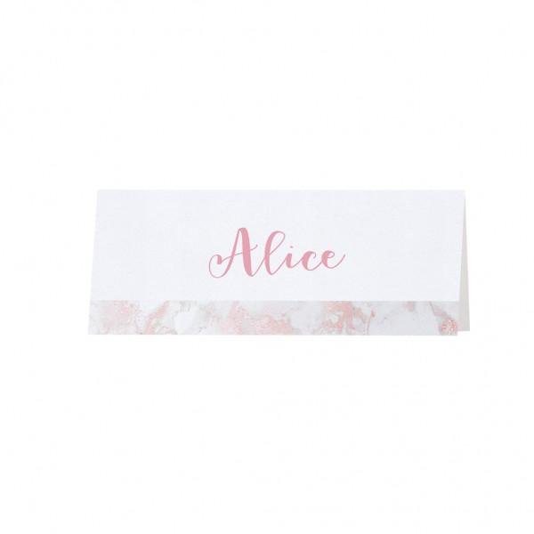 Tischkarte Romantischer Marmor