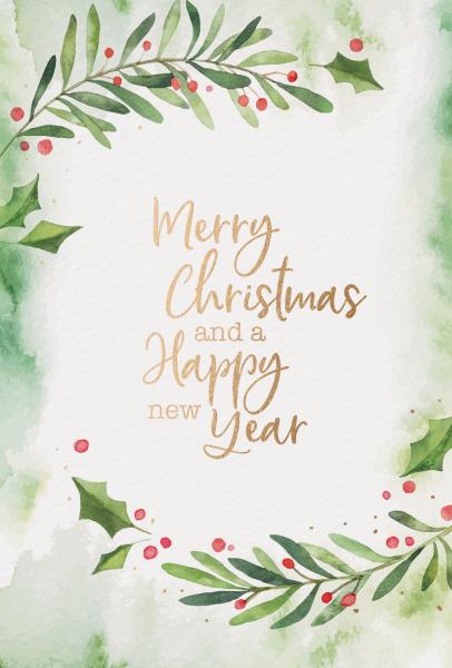 """Weihnachtskarte """"Aquarell Weihnachtszweige"""""""