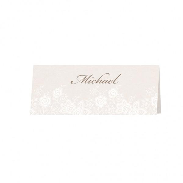 Tischkarte Blumendruck