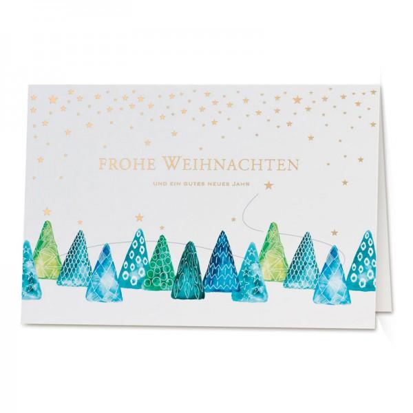 """Weihnachtskarte """"Bäumchen-Parade"""""""