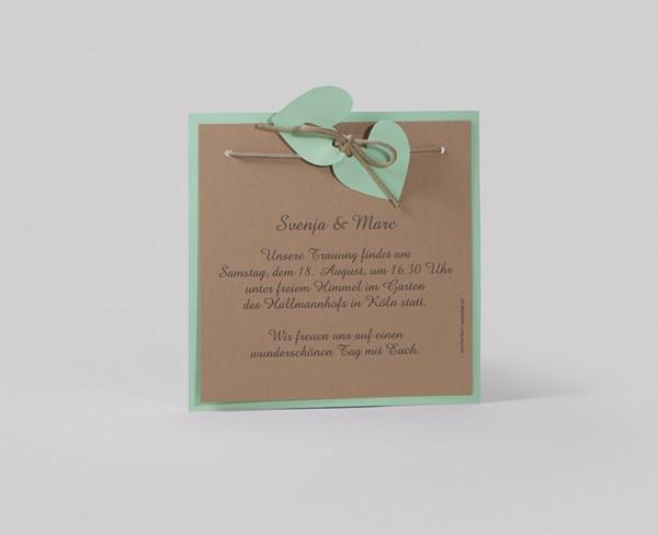 Hochzeitskarte Mint