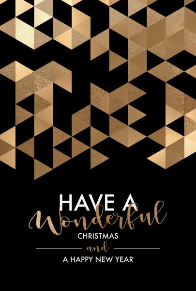 "Weihnachtskarte ""A wonderful Christmas"""