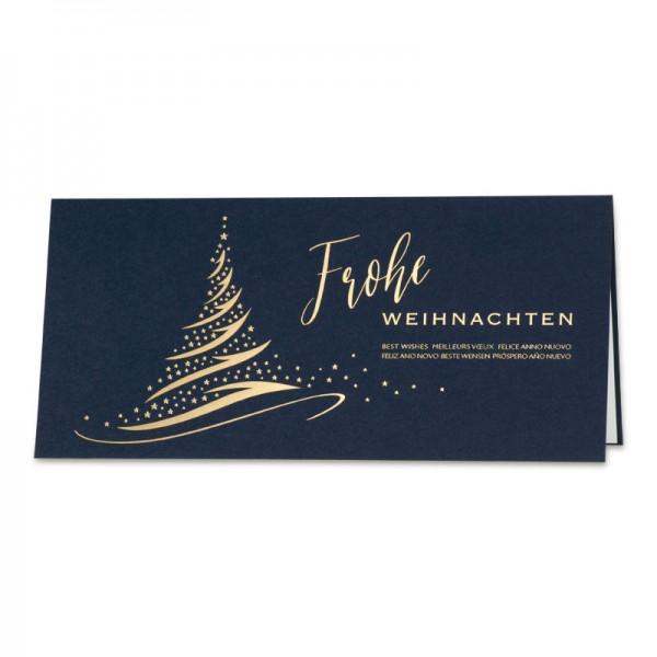"Weihnachtskarte ""Blue Jingle"""