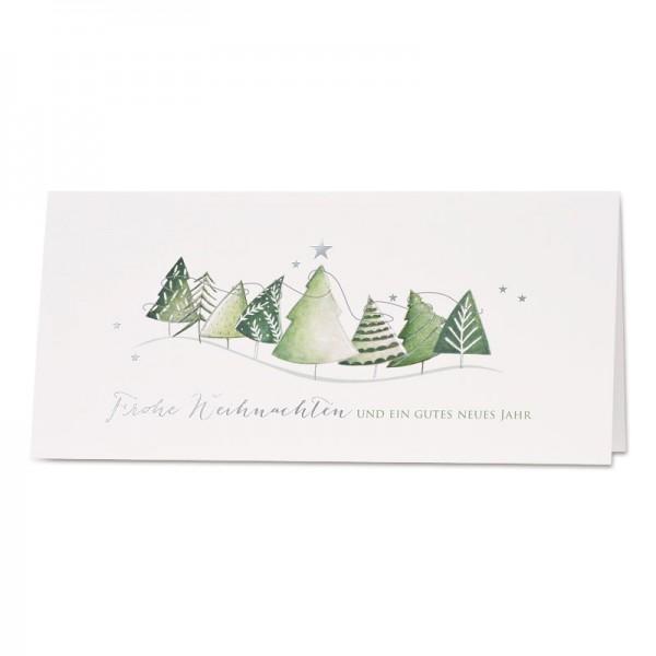 """Weihnachtskarte """"grüne Weihnachtsbäume"""""""