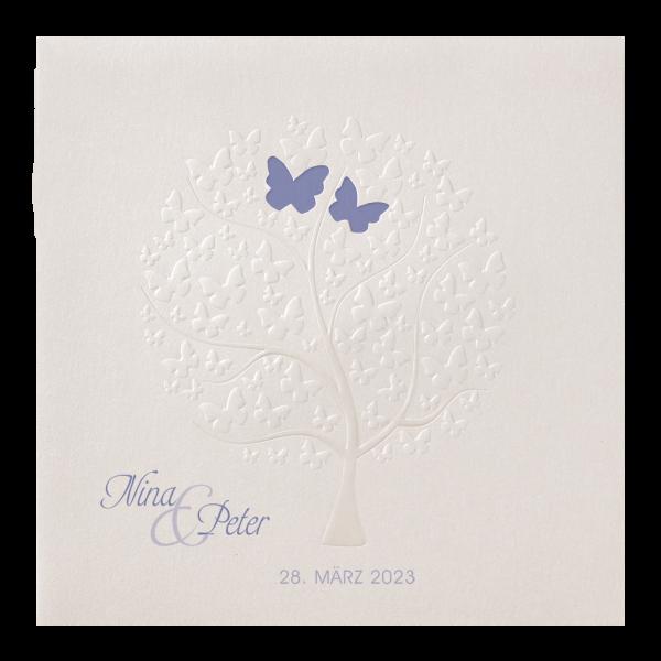 Hochzeitskarte – Schmetterlingsbaum