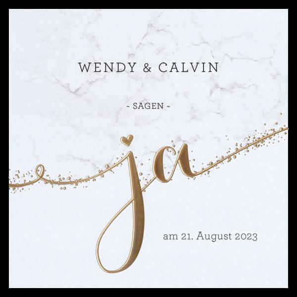 Hochzeitseinladung - Goldenes JA