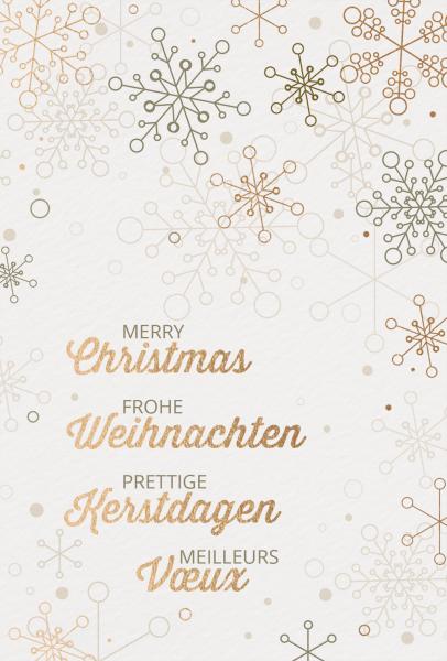 """Weihnachtskarte """"Goldkristalle"""""""