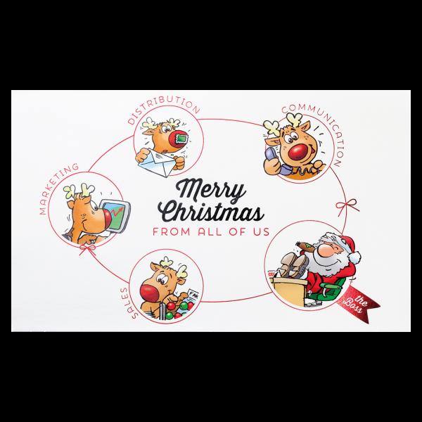 """Weihnachtskarte """"Grüße aus der Firma"""""""