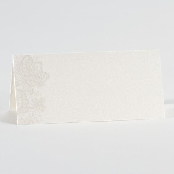 Perlmuttfarbene Tischkarte