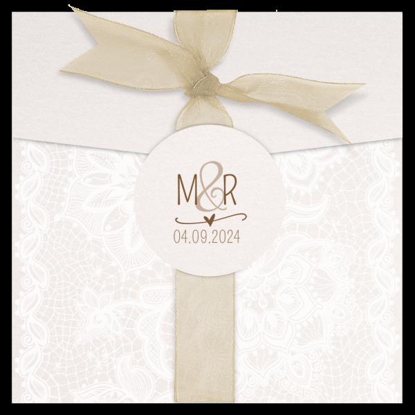 Hochzeitskarte - Barock mit Tüll