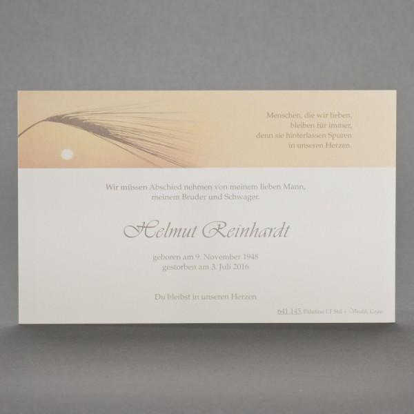 Einzelkarte mit Korn im Sonnenuntergang inkl. passendem Briefumschlag