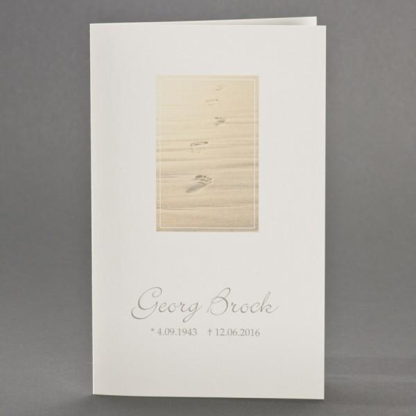 Doppelkarte mit Spuren im Sand inkl. passendem Briefumschlag