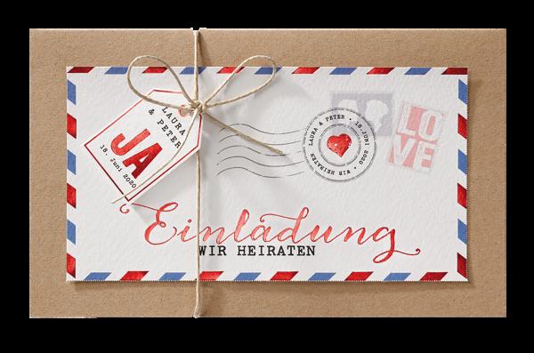 Hochzeitskarte – Liebespost