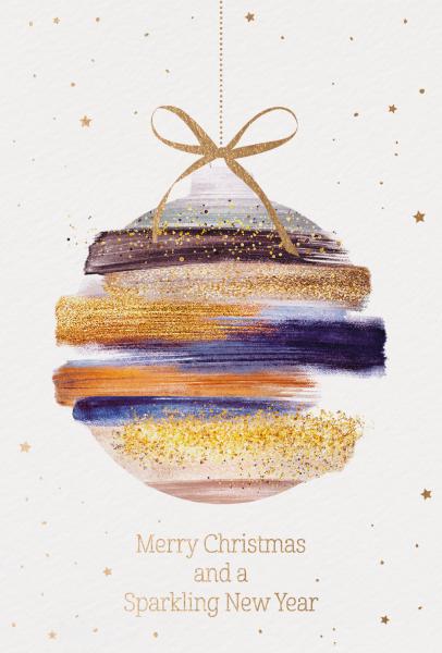 """Weihnachtskarte """"Weihnachtskugel"""""""
