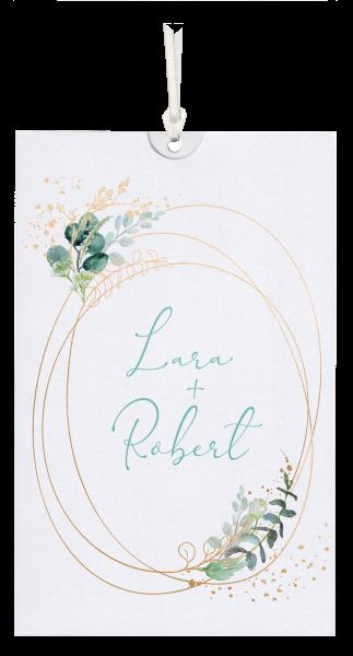 Hochzeitskarte - Blumenornamente