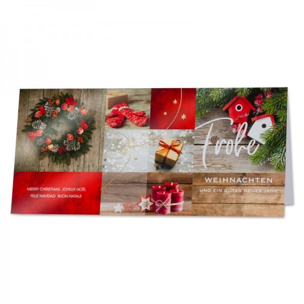 """Weihnachtskarte """"Bescherung"""""""
