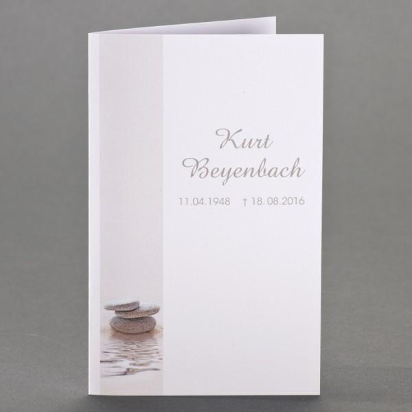Trauerbild mit gestapelten Steinen zu 1-Nutzen inkl. passendem Briefumschlag