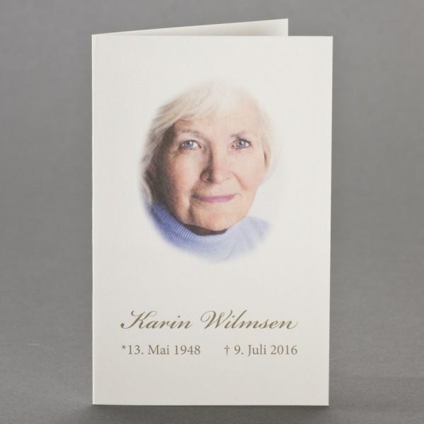 Blanko Trauerbild zu 1-Nutzen inkl. passendem Briefumschlag