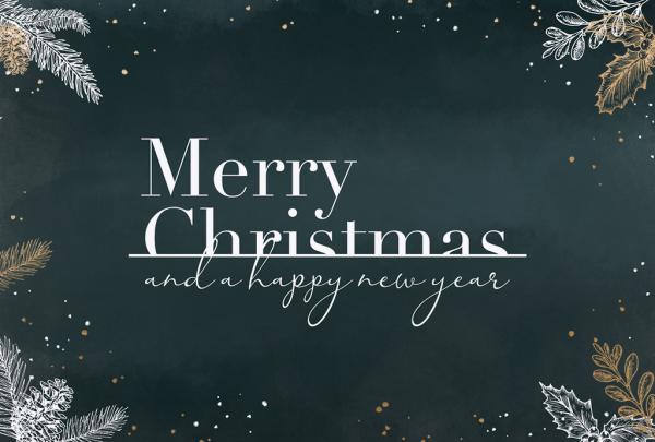 """Weihnachtskarte """"Weihnachtszweige auf Grün"""""""