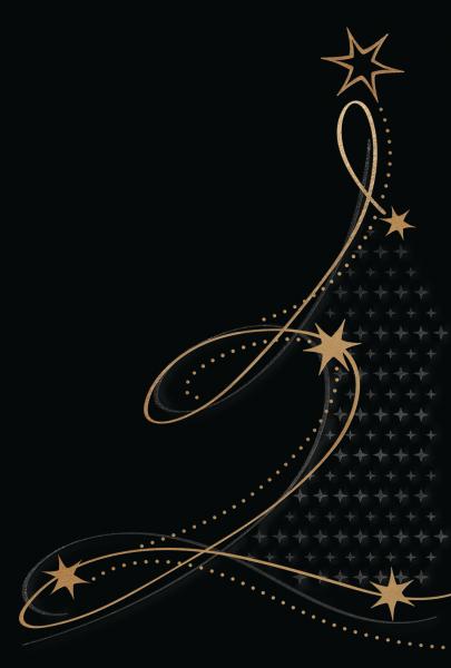 """Weihnachtskarte """"Schwarz mit goldenem Weihnachtsbaum"""""""