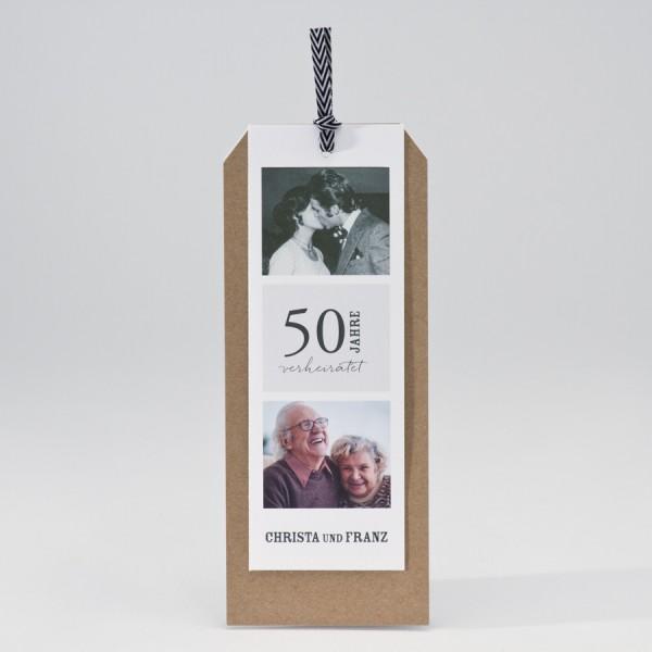 Dreiteilige Jubiläumskarte mit Fotos