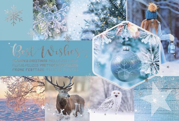 """Weihnachtskarte """"Natürliches Weihnachten"""""""