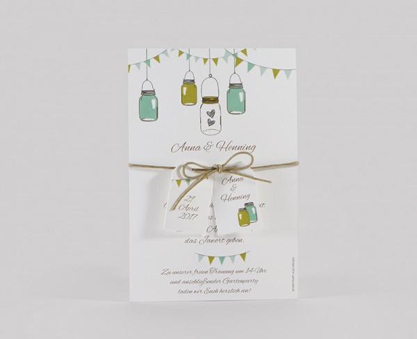 Hochzeitskarte - Lichterkette