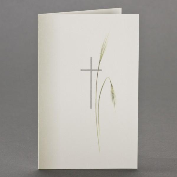 Trauerbild mit Schattierung, sowie Kreuz mit Ähren inkl. passendem Briefumschlag