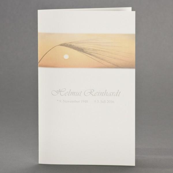 Doppelkarte mit Korn im Sonnenuntergang inkl. passendem Briefumschlag