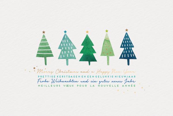 """Weihnachtskarte """"Weihnachtsbaum Illustration"""""""