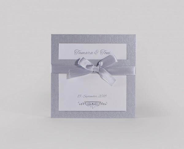 Hochzeitskarte Silver Line