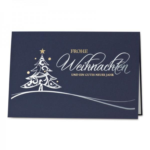 """Weihnachtskarte """"Midnight Blue"""""""