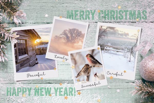 """Weihnachtskarte """"Atmosphärische Naturkarte"""""""