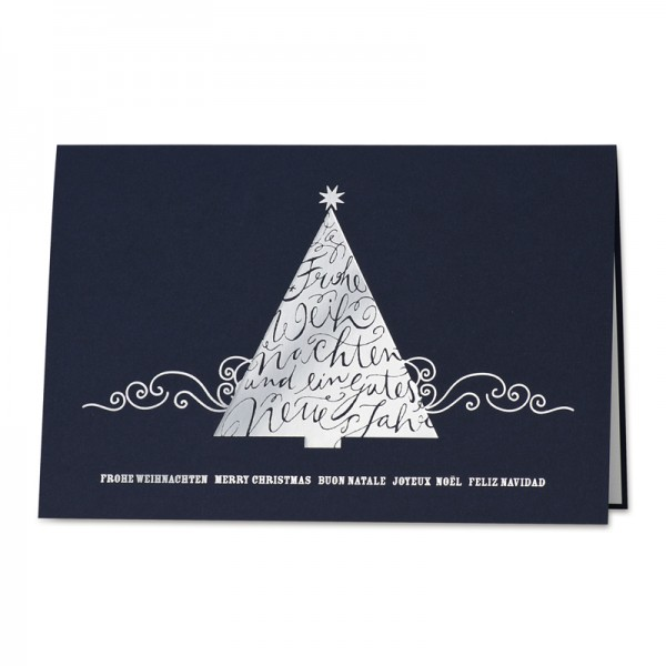 "Weihnachtskarte ""Christmas Wishes"""