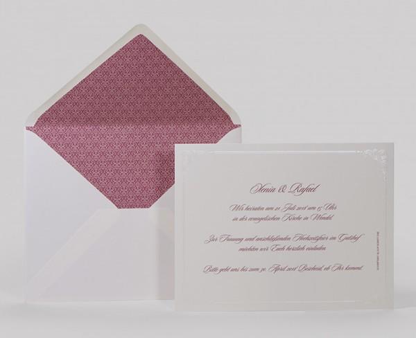 Hochzeitskarte Venia