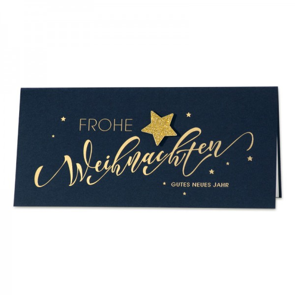 """Weihnachtskarte """"Glitterstern"""""""