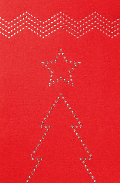 """Weihnachtskarte """"Rote Weihnachtskarte mit Weihnachtsbaum"""""""