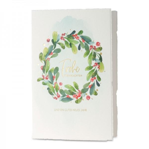 """Weihnachtskarte """"Lorbeerkranz"""""""