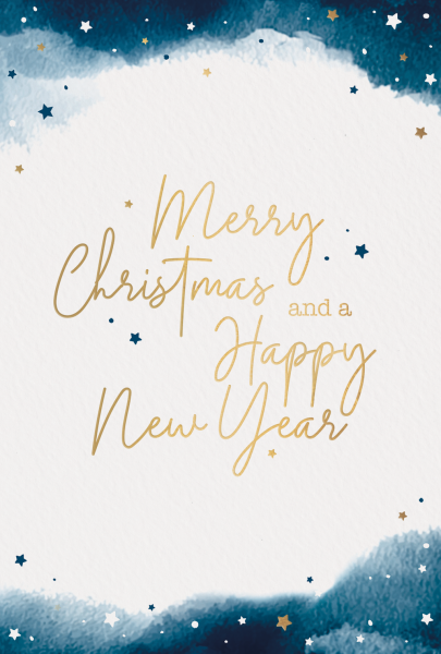 "Weihnachtskarte ""Sternenklarer Himmel"""