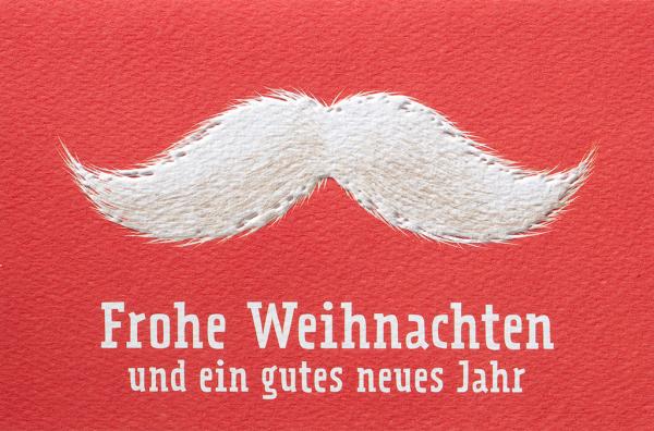 """Weihnachtskarte """"Der Schnurrbart vom Weihnachtsmann"""""""