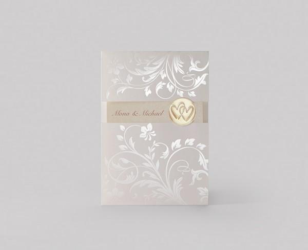 Hochzeitskarte - Golden Circle
