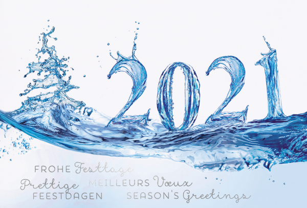 """Weihnachtskarte """"Wasser Weihnachtsgrüße"""""""