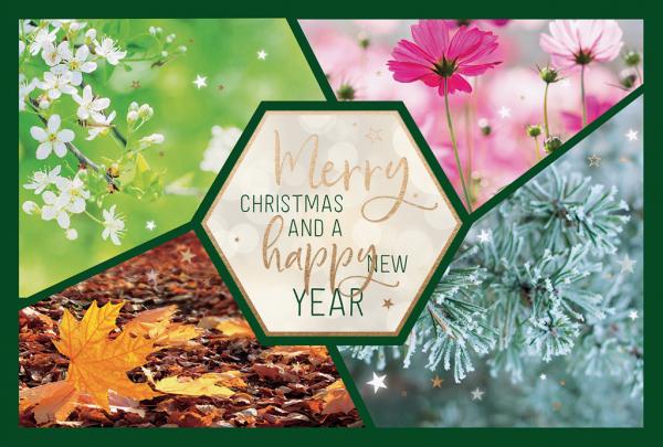 """Weihnachtskarte """"Vier Jahreszeiten"""""""
