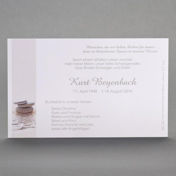 Einzelkarte mit gestapelten Zen-Steinen inkl. passendem Briefumschlag