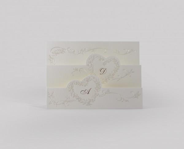Hochzeitskarte Folded Luck