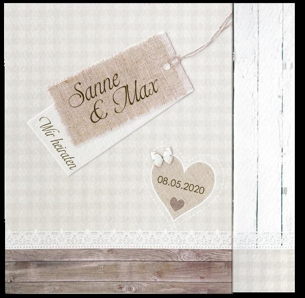 Hochzeitskarte – Landliebe