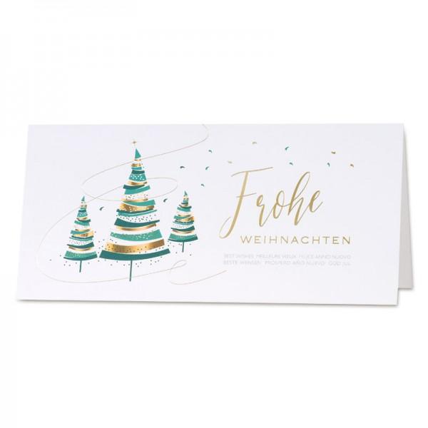"""Weihnachtskarte """"Pastell"""""""