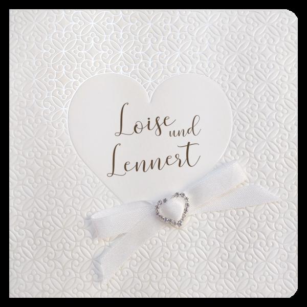 Hochzeitseinladung - Stilvolles Herz