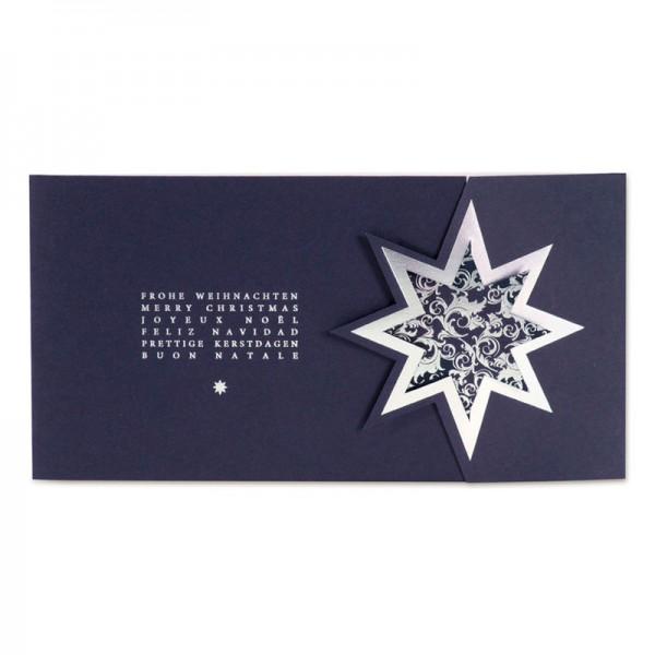"""Weihnachtskarte """"Dunkelblauer Stern"""""""