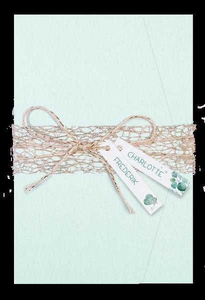 Hochzeitskarte - Hochzeitsmappe Mintgrün
